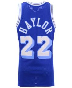 ba44c2e45a3 Mitchell   Ness Men s Elgin Baylor Los Angeles Lakers Hardwood Classic  Swingman Jersey - Blue XXL