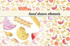 Cosy food patterns by katya.bogina on Creative Market