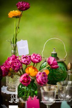 Mariage hippie bohème. Centre de table. Center piece. ©Les crâneuses, wedding planner & designer.