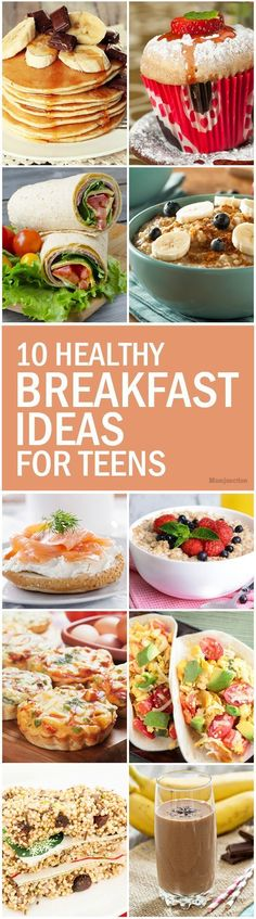 10 Healthy Breakfast Ideas For Teens: Here are ten simple recipes for whipping up the perfect power breakfast for your teen in a jiffy. Go ahead and check them out! #healthy #kids