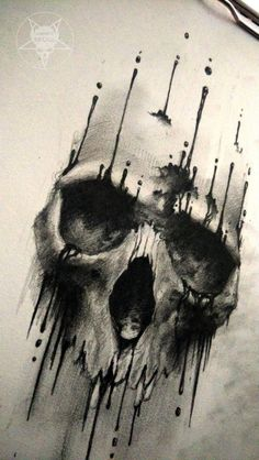 ink skull 2 by AndreySkull.deviantart.com on @DeviantArt
