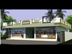 House Front Wall Design, House Balcony Design, House Arch Design, House Outer Design, Single Floor House Design, 3d Home Design, Village House Design, Kerala House Design, Simple House Design
