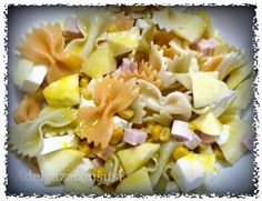 Ensalada de pasta, pavo y manzana (1/2)   Cals: 227kcal   Grasa: 6,08g   Carbh: 38,49g   Prot: 5,66 g    Esta receta es muy típica y cr...