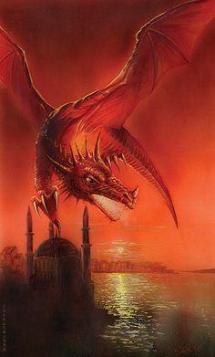 Red Dragon over the Bay by Jan Patrik Krasny