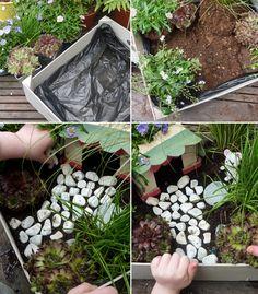 modele pour fabriquer un mini jardin enfant