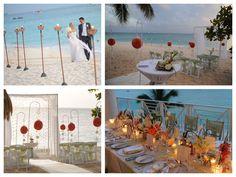 Cayman beach wedding at the Caribbean Club decor by Celebrations Ltd.
