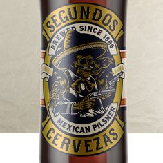 Segundos Cervezas label design by Suckerpunch. #suckerpunch #knockoutidentity #logodesign #branding #corporateidentity #capetown #graphicdesign #typography #lettering #brandingagency #designstudio #type #capetown #johannesburg #southafrica #taste #beerlabel #whisky #illustration #marula #lager #pilsner #packaging #cerveza #mexico #labeldesign #mexican #beer #craftbeer Label Design, Logo Design, Graphic Design, Mexican Beer, Sign Painting, Typography, Lettering, Branding Agency, Beer Label