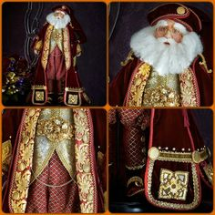Katherine's Collection A Christmas Journey Santa doll display handmade.and hand painted to detail available at World Gifts Store