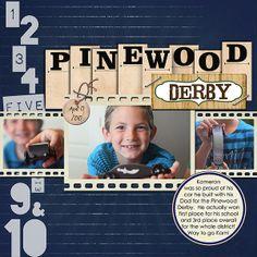 pinewood derby scrapbook | PINEWOOD DERBY Boy Scout scrapbook layout | Scrapbook Patriotic and S ...