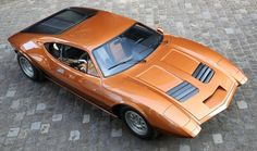 1969 AMC AMX/3 mid engined 'Monza' concept car features collaborations with Bizzarrini, BMW & ItalDesign.