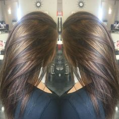 Carmel highlights on brunette hair! by janice