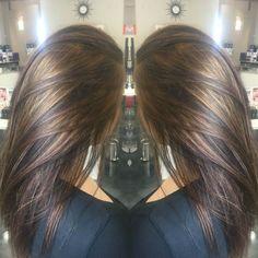 Carmel highlights on brunette hair! by janice