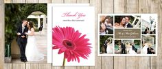 Pink Gerbera  wedding thank you cards..wickedly innocent best wedding stationary website x