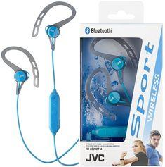 Jvc haec blue bluetooth wireless sport in ear headphones Bluetooth In Ear Headphones, Clip, Sports, Ebay, Sports Helmet, Helmets, Hs Sports, Sport