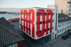 """ERROR"" by urban artist SpY in the city of Stavanger (Norway). I wish it said ""404"" on the other side."
