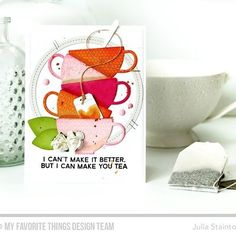 #LainaLambDesign's Tea Party Die-namics and Cup of Tea stamp set are guaranteed…