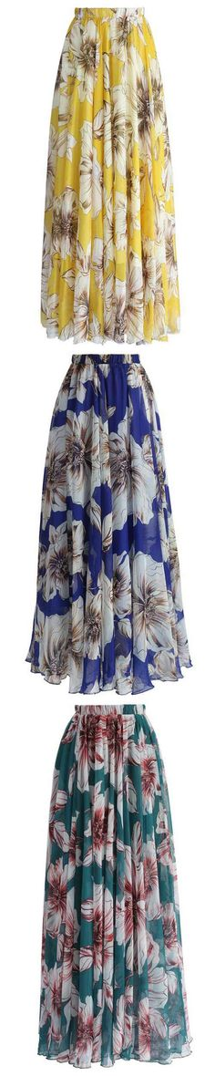 Enjoy this fall with long skirt! Free shipping&easy return! This floral skirt gonna brighten your world! Find it at Cupshe.com