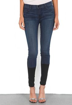 $231 NEW J Brand 8066 Photo Ready Stepped Hem Ultra Skinny Jean in Snowbird 27…