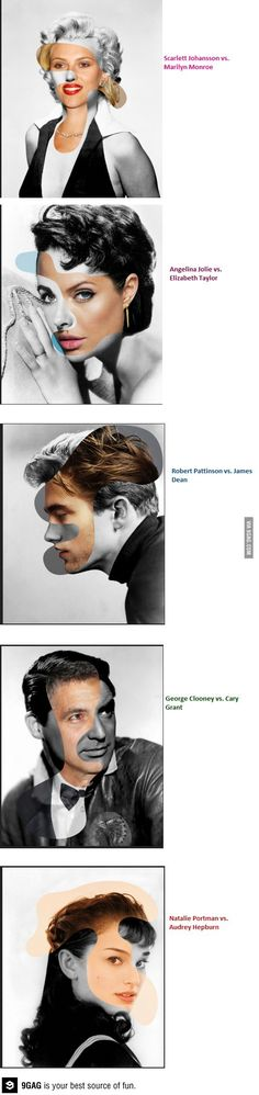 A visual mashup of Hollywood icons from different eras by George Chamoun