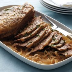 Braising turns a tough, less expensive cut of beef into a flavorful, hearty meal that's ideal for Passover.