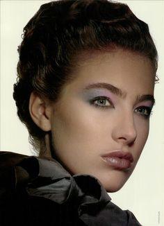 Vogue Italia Speciale February 1988  Ombretti per incisioni eccellenti photographer: Steven Klein hair: uncredited makeup: Alberto Fava model: Elaine Irwin