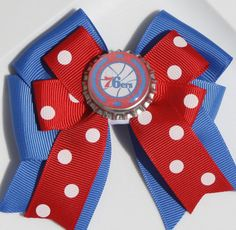 Sixers Philadelphia Sixers 76ers Sixers Hair Bow by bowsforme, $6.00