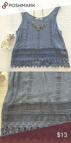 Elodie Crochet Lace Knit Tank In excellent condition!   { FYI, I'm using posh sales to help pay for school, so I'm currently not interested in trading :) } Anthropologie Tops Blouses