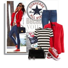 C is for Converse by barbarapoole on Polyvore featuring Karen Millen, Paige Denim, Fendi, Gucci, Converse, women's clothing, women's fashion, women, female and woman