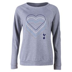 Tottenham Heart Women's Crewneck Fleece    $39.99   Holiday Gift & Stocking Stuffer ideas for the Tottenham Hotspur fan at WorldSoccerShop.com