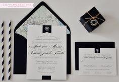 Nautical Wedding Invitation by CoppiaCreativa on Etsy