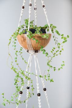 Suspension en macramé bymadjo.com Modèle bouddha Suspension Macramé Suspension plante Suspension pour plantes