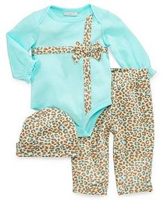First Impressions Baby Girls' 3-Piece Hat, Bodysuit & Pants Set - Kids Baby Girl (0-24 months) - Macy's