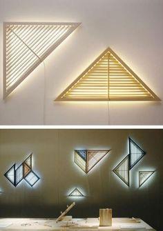 Shutter-shaped lamp design