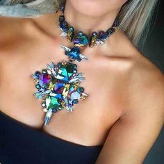 Cheap fashion jewelry, Buy Quality jewelry fashion directly from China jewelry wholesale Suppliers: 2018 Summer Geometric Fashion Crystal Choker Necklace Women Wedding Boho Statement Necklace Custom Chocker Jewelry Wholesale Cute Jewelry, Women Jewelry, Fashion Jewelry, Jewelry Necklaces, Boho Jewelry, Peacock Jewelry, China Jewelry, Gold Jewellery, Wedding Jewelry