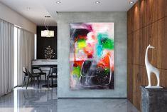 Items similar to Large Modern Wall Art Painting,Large Abstract wall art,texture art painting,abstract originals,bathroom wall art on Etsy Bright Paintings, Unique Paintings, Art Paintings, Large Abstract Wall Art, Large Painting, Painting Abstract, Painting Art, Oversized Canvas Art, Extra Large Wall Art