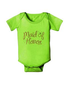 TooLoud Maid of Honor - Diamond Ring Design - Color Baby Romper Bodysuit