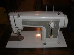 Kenmore Sewing Machine 1970's. The model numbers I own are 158-950, 158-19801, 158-152, 158-17033. The 158-152 is my favorite. The 158-19801 I have no foot controller (extremely rare 7 pin cord) or bobbin cover plate for it.