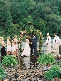 Photography: Laura Gordon - www.lauragordonphotography.com Ceremony Venue: Flint River- Thomaston, Georgia - n/a Wedding Dress: Grace Loves Lace - graceloveslace.com.au   Read More on SMP: http://www.stylemepretty.com/2015/01/22/rustic-outdoor-geogia-wedding/