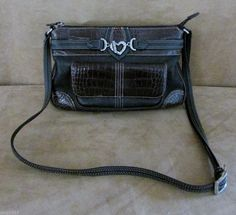 Brighton Leather crossbody bag purse handbag and womens organizer black wallet #Brighton #MessengerCrossBody
