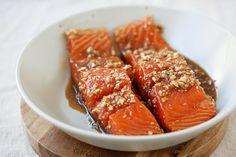 Ginger Garlic Baked Salmon | Easy Delicious Recipes