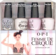 OPI Femme De Cirque SoftShades 2011 Mini Nail Lacquers Set, 1- 4 pc set by OPI, Amazing!
