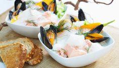 En smaksrik fiskesuppe basert på skalldyr og fisk. Suppen passer godt når du skal servere noe ekstra godt, enten det er til familien eller når du skal ha venner på besøk.
