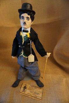 Laurel And Hardy, Doll Stands, Charlie Chaplin, Black Felt, Wool Pants, Vintage Dolls, Fields, Derby, Snow White