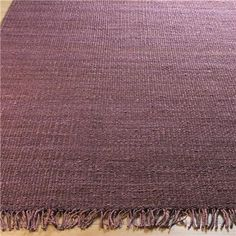 Rustic Tweed Hemp Rug: Shades Of Eggplant ~ jtb