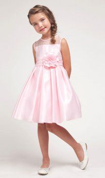Visit our online store to find a massive range of flower girl dresses, Communion dresses, & pageant dresses in premium quality. Little Girl Wedding Dresses, Pink Flower Girl Dresses, Girls Dresses, Wedding Girl, Pink Satin Dress, Pink Gowns, Satin Dresses, Junior Bridesmaid Dresses, Pageant Dresses