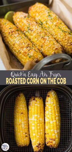 Recipes Snacks Quick Under 15 mins. make this quick and easy Air fryer corn on the cob whenever you need roasted corn. Perfect for appetizers or snacks. Or just use the roasted corn kernels in different recipes. Air Fryer Recipes Breakfast, Air Fryer Oven Recipes, Air Frier Recipes, Air Fryer Dinner Recipes, Air Fryer Recipes Vegetables, Healthy Vegetables, Breakfast Healthy, Recipes Dinner, Veggies