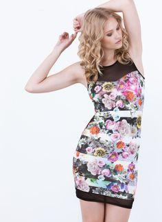 Rosy Outlook Striped Bodycon Dress-GoJane.com