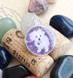 WATERPROOF Photo Necklace with SOLID by BlueCornerCreasigns