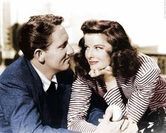 Spencer Tracy and Katherine Hepburn