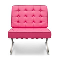 Barcelona Chair in Pink Leather so beautiful, one of over 3,000 limited production interior design inspirations inc, furniture, lighting, mirrors, tabletop accents and gift ideas to enjoy repin and share at InStyle Decor Beverly Hills Hollywood Luxury Home Decor enjoy & happy pinning